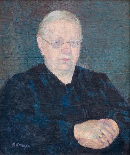 "Janina Kraupe-Świderska - ""Portret Marii Kraupe"", ol/pł.,47x40, sygn.l.d., ok.1940 r."