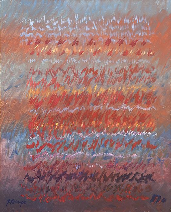 "Janina Kraupe-Świderska - ""Appassionata Beethovena"", olej/płótno,100 x 80 cm"