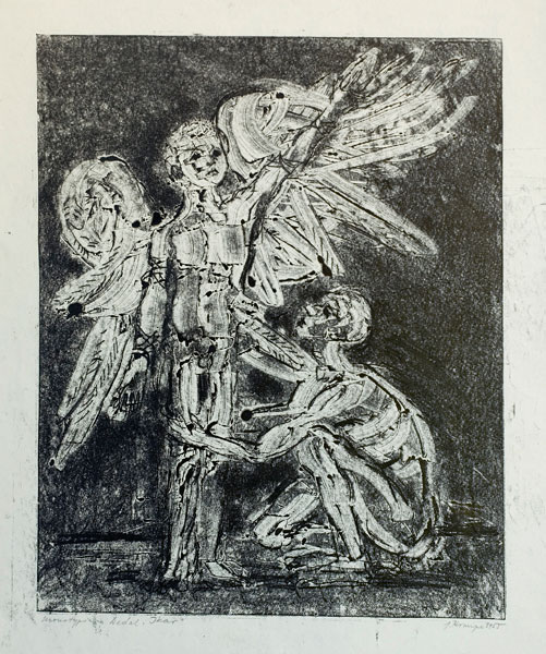 "Janina Kraupe Świderska - ""Dedal i Ikar"", monotypia, 1955 r."