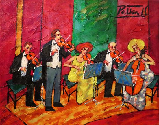 "Witold Pałka, ""Koncert"", ol/pł, 40x50 cm"